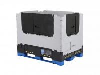Faltbare Palettenbox - 1200x800xH958mm - Grau 2500.461.502