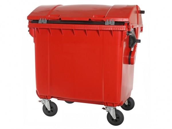 Müllcontainer - 1100 Liter - Schiebedeckel - Rot