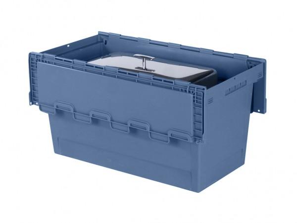 Chafing-Dish Transportbehälter - 800x400xH440mm - Graublau