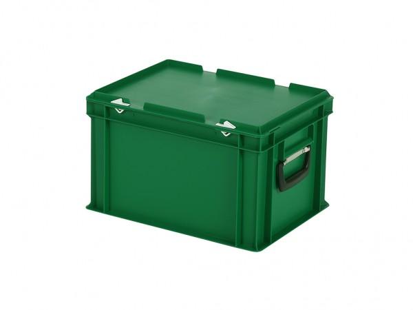 Kunststoffkoffer - 400x300xH250mm - Grün