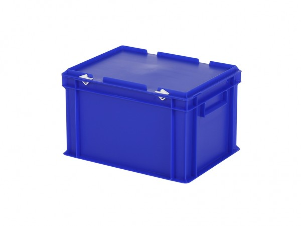 Stapelbehälter mit Deckel - 400x300xH250mm - Blau