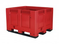 Palettenbox - 1200x1000mm - 3 Kufen - Rot 4401.300.215