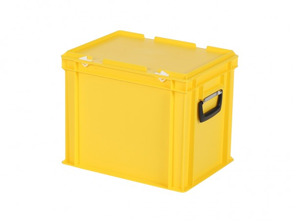 Kunststoffkoffer - 400x300xH335mm - Gelb