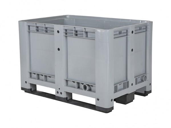 Kunststoff Palettenbox - 1200x800xH780mm - auf 3 Kufen - Grau