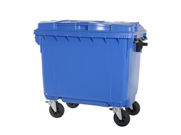 Müllcontainer 660 Liter - 4 Räder - Blau - Müllgroßbehälter