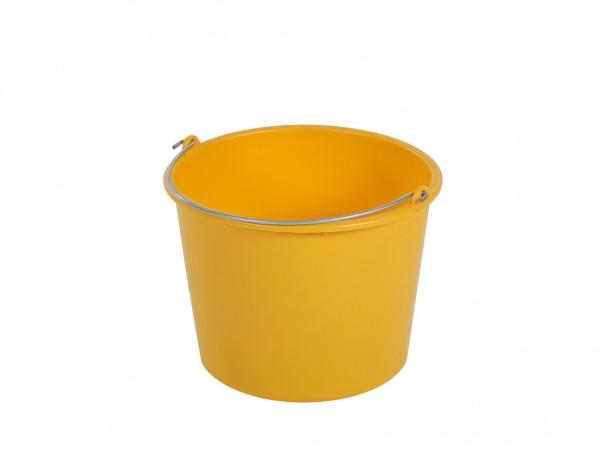 Eimer aus Kunststoff 12 Liter - normal duty - Gelb