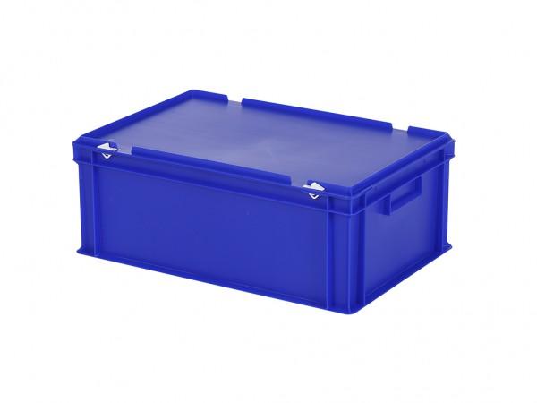 Stapelbehälter mit Deckel - 600x400xH235mm - Blau