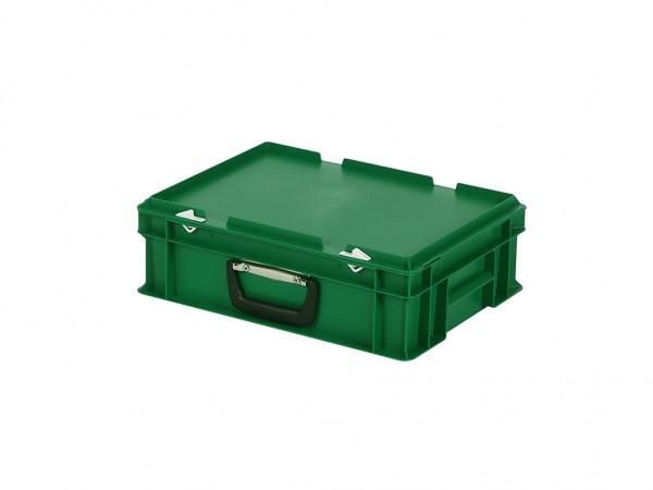 Kunststoffkoffer - 400x300xH133mm - Grün