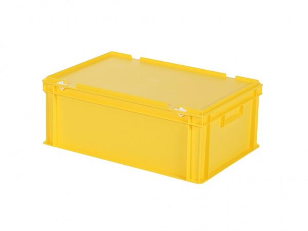 Stapelbehälter mit Deckel - 600x400xH235mm - Gelb