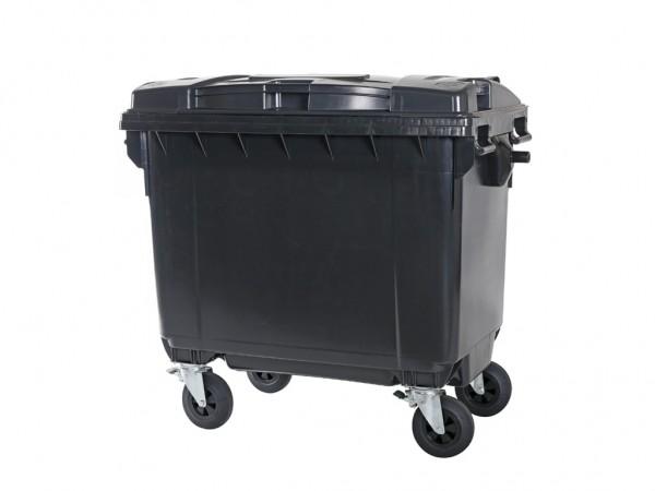 Müllcontainer 660 Liter - 4 Räder - Grau - Müllgroßbehälter