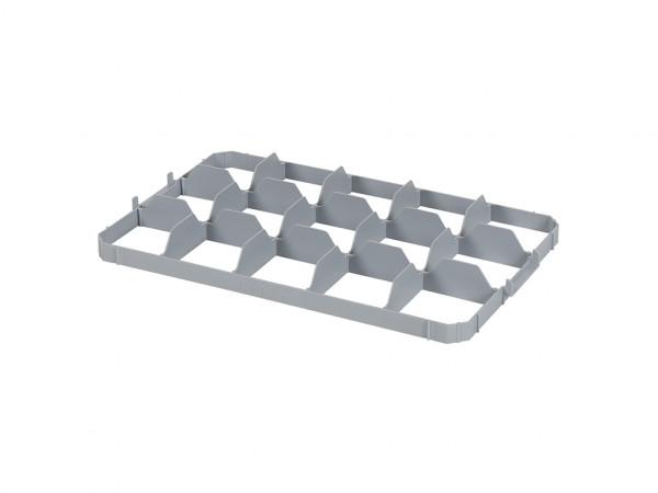Obere Facheinteilung für Stapelbehälter - 15 Fächer - Fachgröße 116x109mm