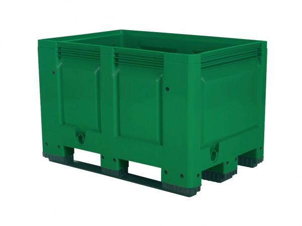 Kunststoff Palettenbox - 1200x800mm - auf 3 Kufen - Grün