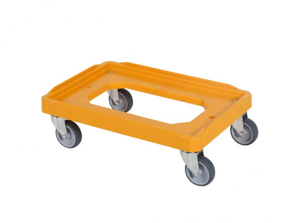 Transportroller - Rollwagen - 600x400mm mit Gummilauffläche