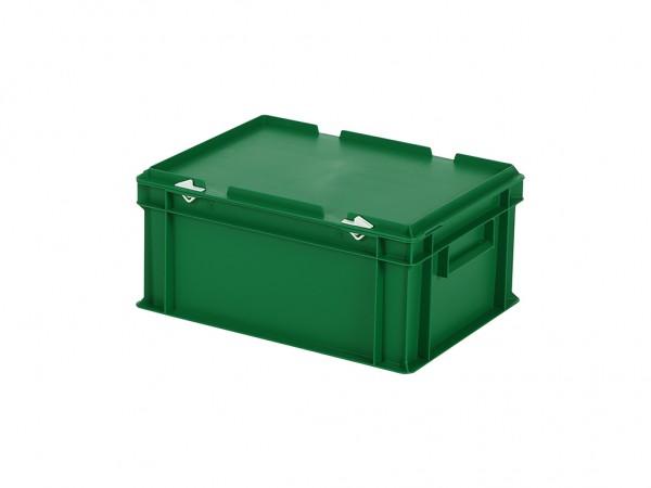 Stapelbehälter mit Deckel - 400x300xH190mm - Grün