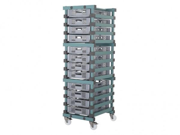 Behälterwagen - für 12 Behälter 600x400mm