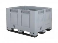 Palettenbox - 1200x1000mm - 3 Kufen - Grau 4401.300.554