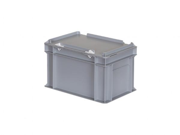 Stapelbehälter mit Deckel - 300x200xH190mm - Grau