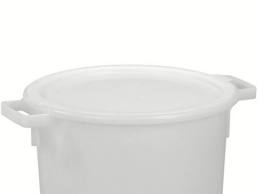 Aufliegedeckel - Weiss - für Tonnen 40 und 50 Liter