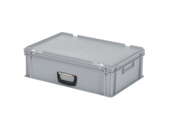 Kunststoffkoffer - 600x400xH185mm - Grau