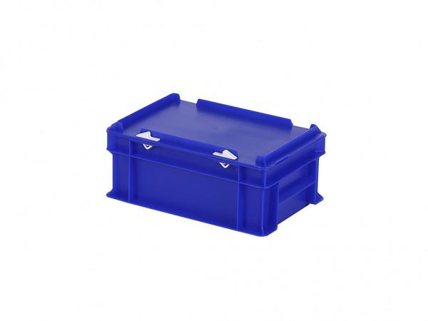 Stapelbehälter mit Deckel - 300x200xH133mm - Blau