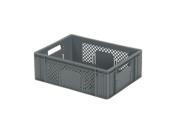 Stapelbehälter durchbrochen - 400x300xH142mm - Grau