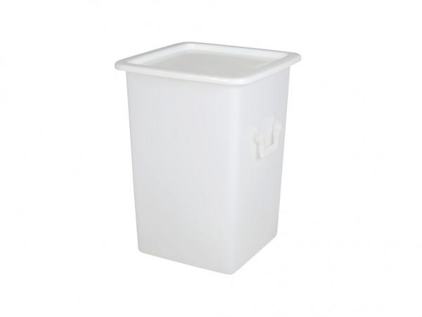 Aufliegedeckel 520x520mm - Weiss - für Transportbehälter 125 Liter