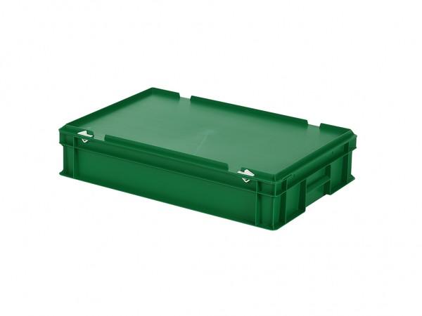 Stapelbehälter mit Deckel - 600x400xH135mm - Grün