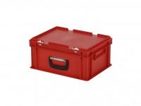 Kunststoffkoffer - 400x300xH190mm - Rot