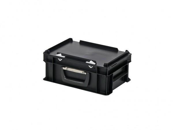 Kunststoffkoffer - 300x200xH133mm - Schwarz