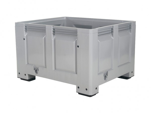 Kunststoff Palettenbox - 1200x1000mm - auf 4 Füßen - Grau