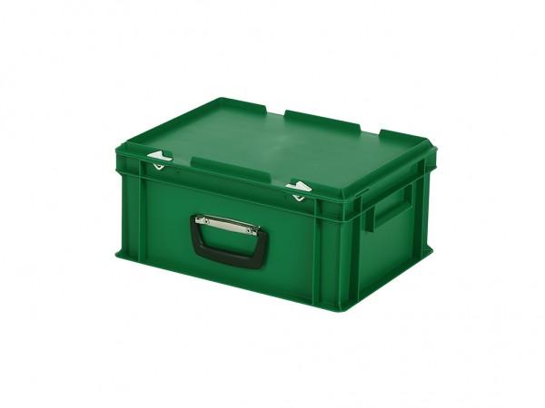 Kunststoffkoffer - 400x300xH190mm - Grün