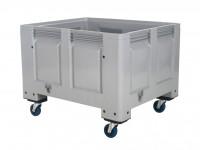 Kunststoff Palettenbox - 1200x1000mm - auf Rollen - Grau 4401.105.554