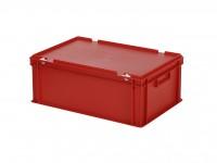 Stapelbehälter mit Deckel - 600x400xH235mm - Rot