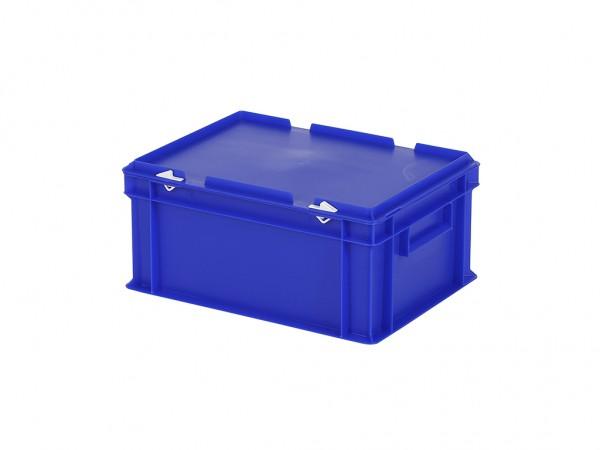 Stapelbehälter mit Deckel - 400x300xH190mm - Blau