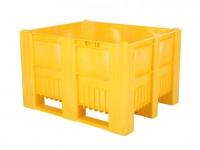 CB3 Kunststoff Palettenbox - 1200 x 1000 mm - auf 3 Kufen - Gelb