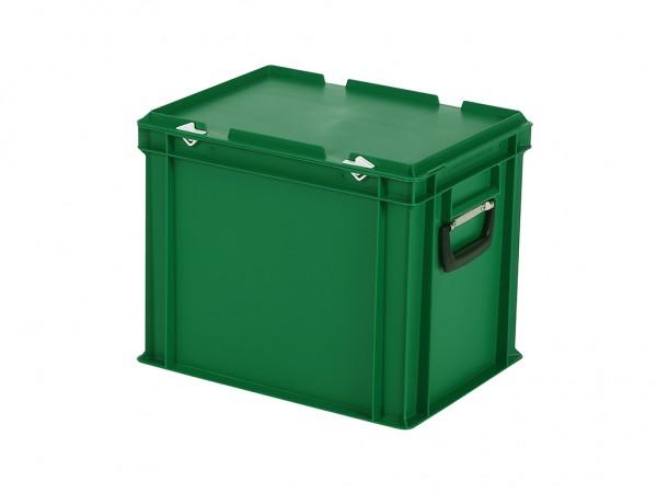 Kunststoffkoffer - 400x300xH335mm - Grün