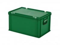 Kunststoffkoffer - 600x400xH335mm - Grün 30.632.KO.8