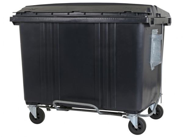 Müllcontainer - 1700 Liter - Flachdeckel - Grau