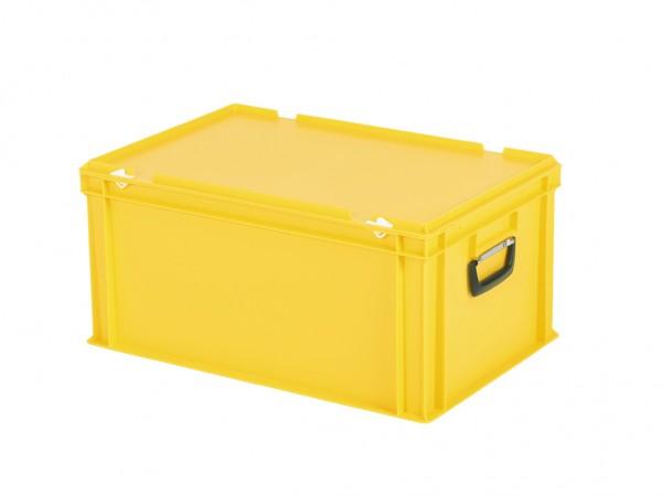 Kunststoffkoffer - 600x400xH295mm - Gelb