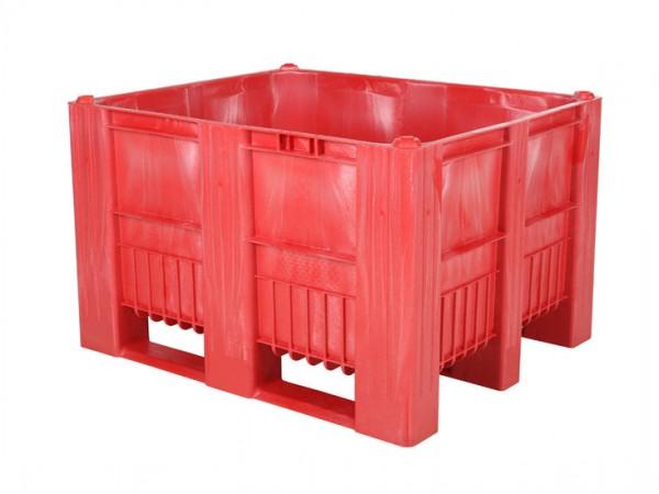 CB3 Palettenbox - 1200x1000mm - 3 Kufen - Rot