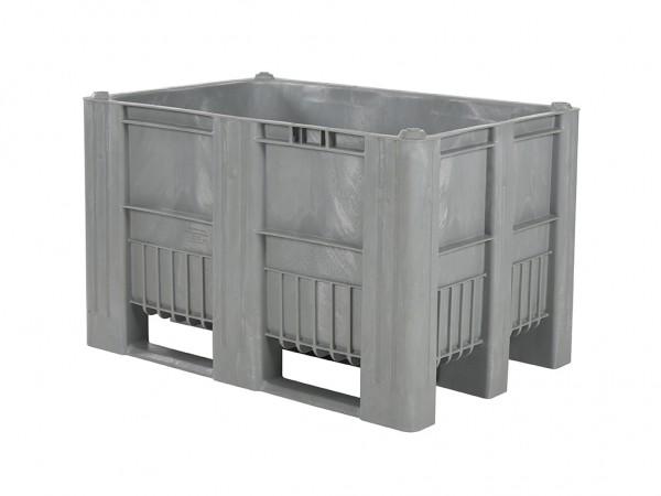 CB1 Palettenbox - 1200x800mm - 3 Kufen - Grau