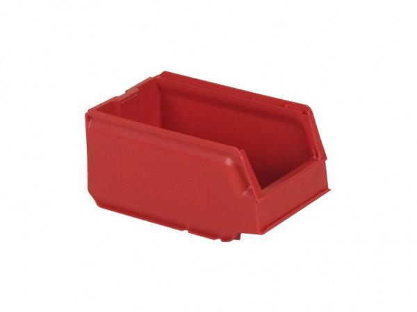 Sichtlagerkasten Kunststoff - 250x148xH130mm - Rot