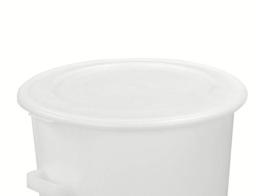 Klemmdeckel - Weiss - für Tonnen 75 und 110 Liter