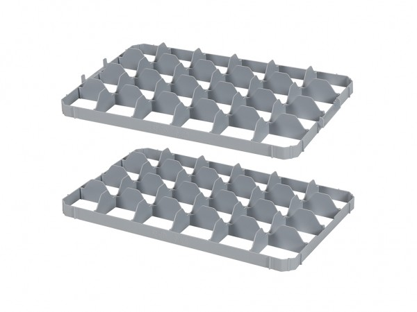 Set mit Facheinteilungen für Stapelbehälter - 24 Fächer - Stapelbehälter - Fachgröße 90 x 85 mm