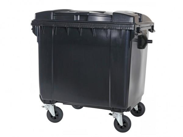 Müllcontainer - 1100 Liter - Flachdeckel - Grau