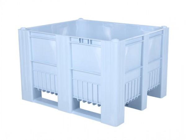 CB3 Kunststoff Palettenbox - 1200 x 1000 mm - auf 3 Kufen - Hellblau