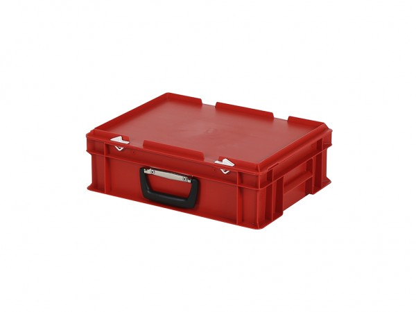 Kunststoffkoffer - 400x300xH133mm - Rot
