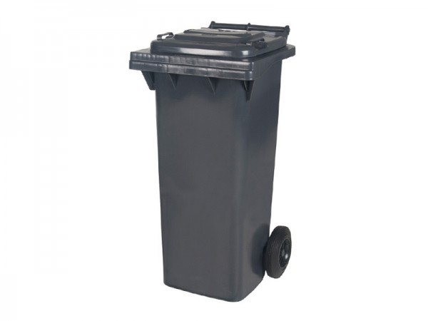 Mülltonne 80 Liter - Grau - 2 Räder - Wertstofftonne - Müllgroßbehälter