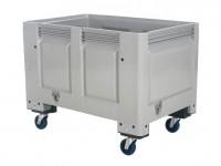 Kunststoff Palettenbox - 1200x800mm - auf Rollen - Grau