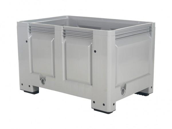 Kunststoff Palettenbox - 1200x800mm - auf 4 Füßen - Grau